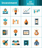 Set d'icônes d'investissement