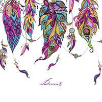 Croquis de plumes ethniques