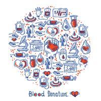 Cercle d'icônes de donateurs vecteur