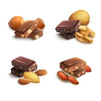 Chocolat Aux Noix vecteur