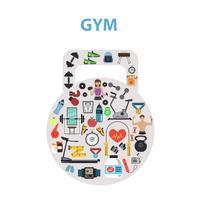 concept de gym plat