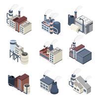Isométrique du bâtiment vecteur
