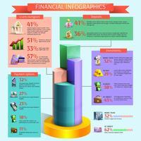 Jeu infographique financier vecteur