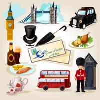 Ensemble touristique de Londres vecteur