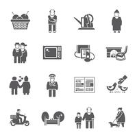 Pensionnés Life Icons Set