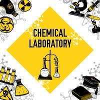 Concept de coin de laboratoire vecteur