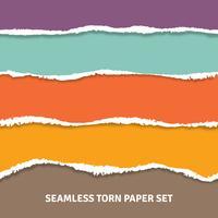 Concept de papier déchiré sans soudure vecteur