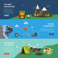 ensemble de bannière camping aventure vecteur