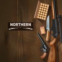 Ensemble d'armes de chasse