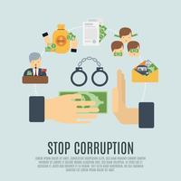 concept de corruption plat vecteur