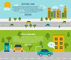Jeu de bannière de voiture électrique