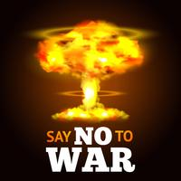 Affiche d'explosion nucléaire vecteur