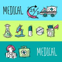 Ensemble de bannières médicales