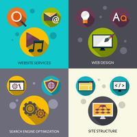 Ensemble de conception Web vecteur
