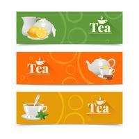 Ensemble de bannières de thé