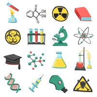 Jeu d'icônes de laboratoire de chimie vecteur