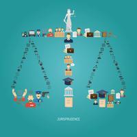 concept de justice plat vecteur