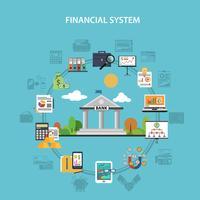 concept de finance plat