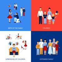 Concept de design familial vecteur