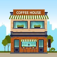 Café bâtiment vecteur