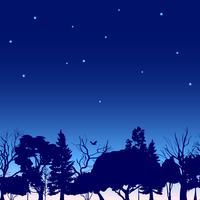 Esquisse des arbres en bordure de forêt