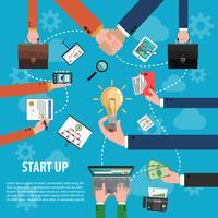 Concept d'idée d'entreprise vecteur