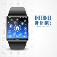concept internet montre intelligente vecteur