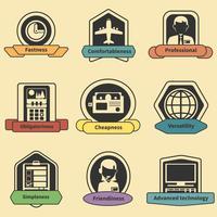 Emblèmes de livraison de transport logistique vecteur