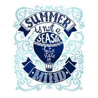 Modèle de carte postale d'été