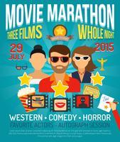 Affiche de promotion du film vecteur