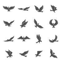 jeu d'icônes aigle vecteur