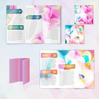 Modèle de brochure multicolore vecteur