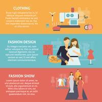 Ensemble de bannières horizontales de concepteur de vêtements