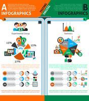 Ab Testing Infographics Set vecteur