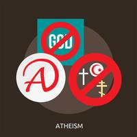 Athéisme Illustration conceptuelle Design vecteur