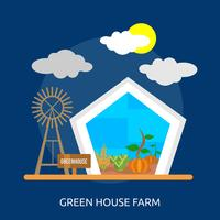 Green House Farm Illustration conceptuelle Design
