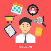 Vendeurs Conceptuel illustration Design vecteur