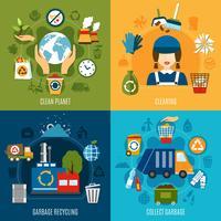 Concept de design pour le ramassage des ordures
