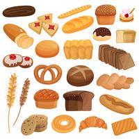 Ensemble de produits de boulangerie vecteur