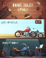Ensemble de bannières de moto Roadster vecteur