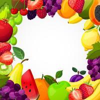 Modèle de cadre de fruits vecteur