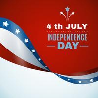 Fête de l'indépendance des États-Unis vecteur
