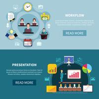 Business Showcase Presentation Bannières vecteur
