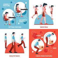 posture 2x2 design concept set