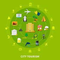 Concept de design de tourisme urbain vecteur