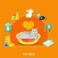Concept de soins pour animaux de compagnie vecteur