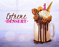 Dessert extrême flou fond clair affiche