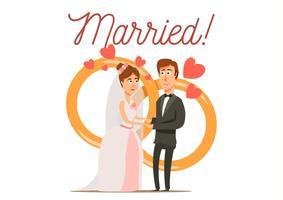 Composition du couple nouvellement marié vecteur