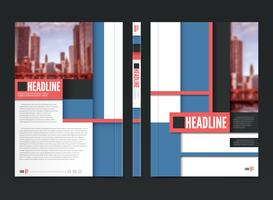 Conception de la brochure du rapport annuel vecteur