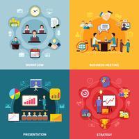 Concept de design de flux de travail d'entreprise